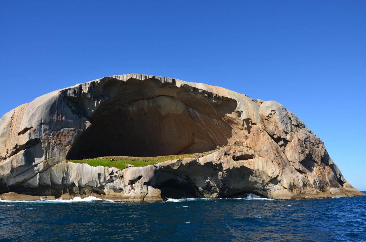 03 cleft adasu skull kayaları, wilsons promontory milli parkı avustralya