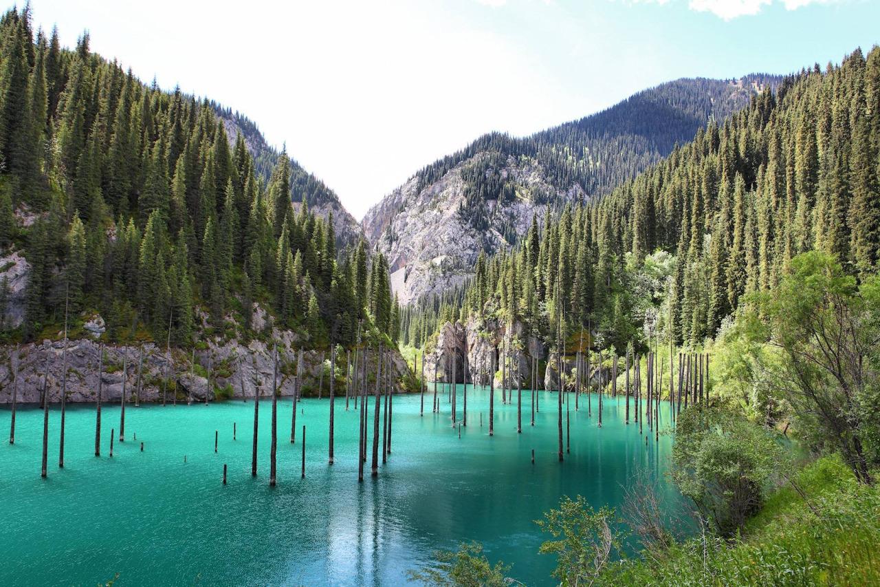 04 kaindi gölü kazakistan