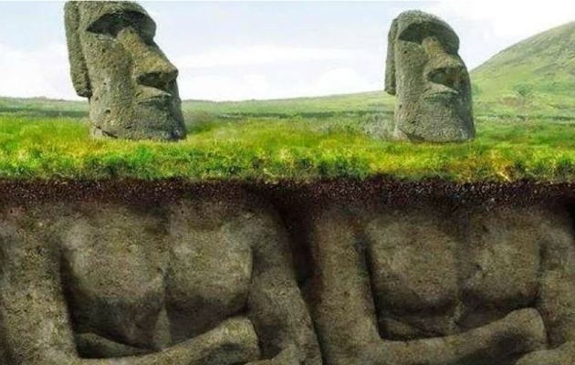Bu heykellerin gövdeleri de var