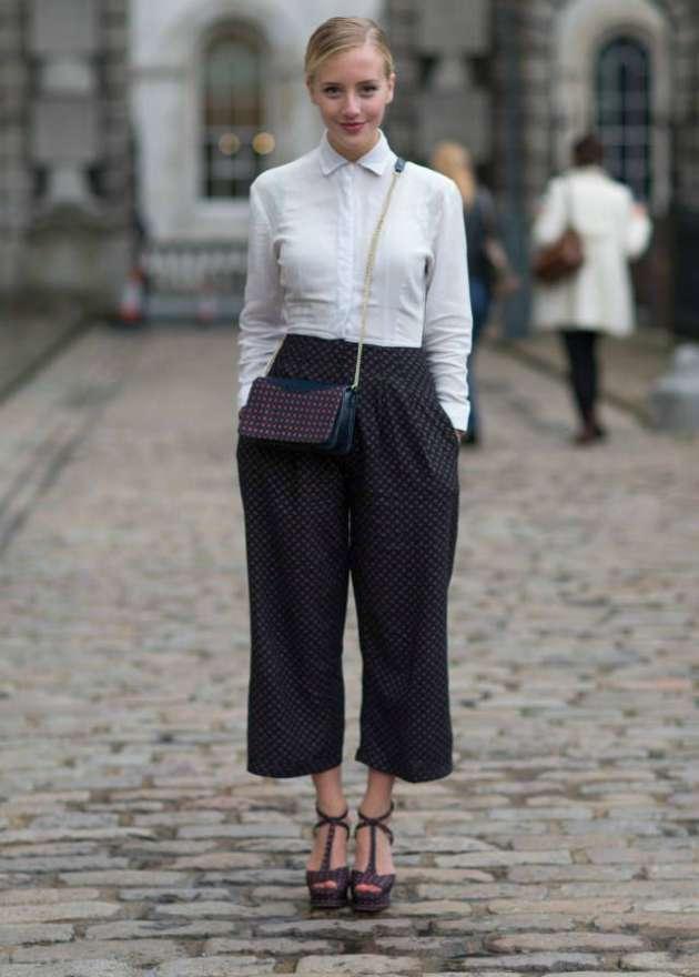 Culotte trendi ile yaz bitmeden ofislerde Fransız Rüzgarları estirin