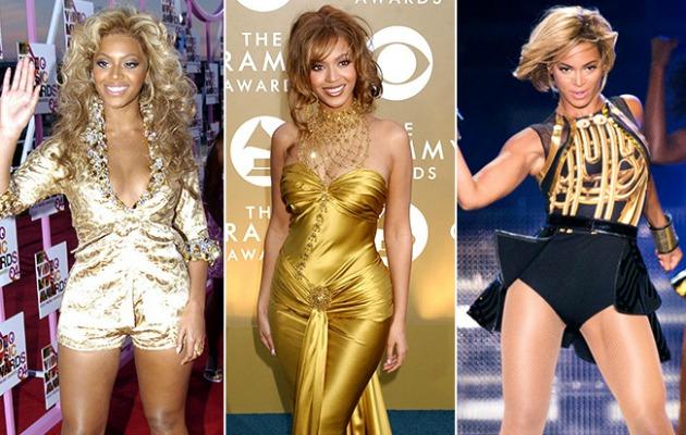 Beyonce'nin stili yıllar içinde epey değişmiş