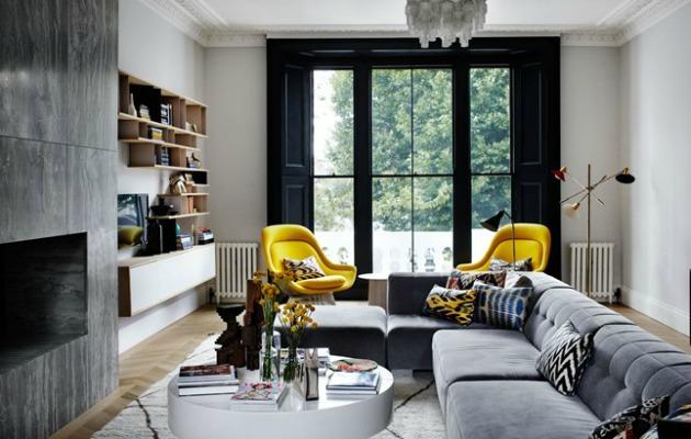 Pop-art mobilyalar siyah renge çok yakışmış