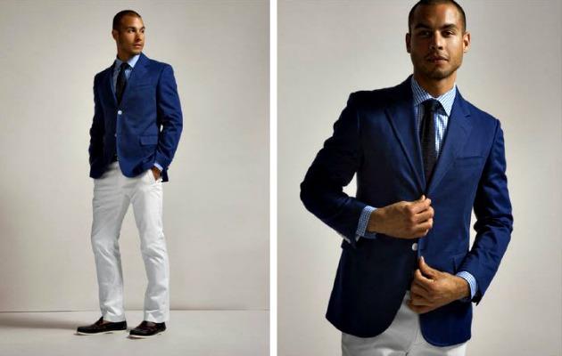 Kanvas pantolon ceket kombinine hoş bir örnek
