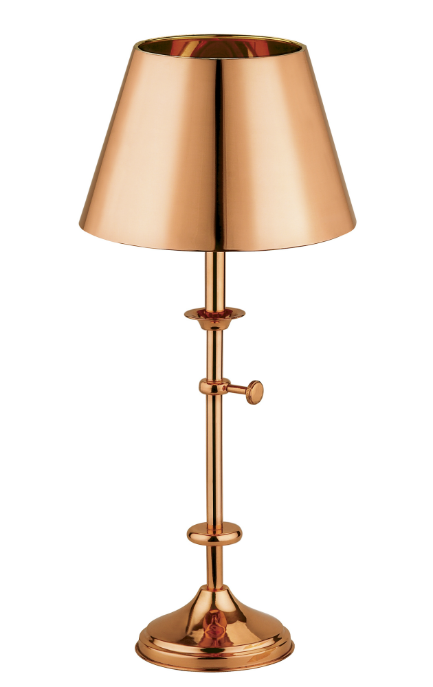 Rose gold bir lamba